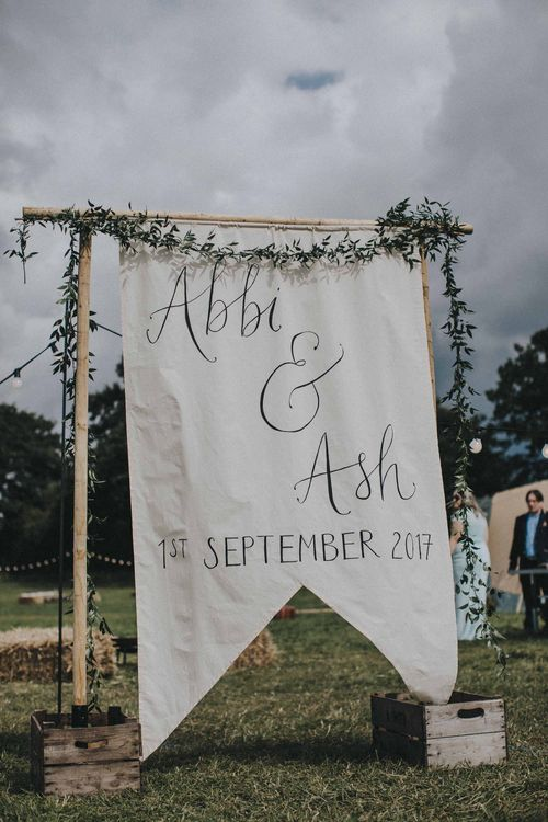 Welcome To Our Wedding Sign // Image By Matt Horan