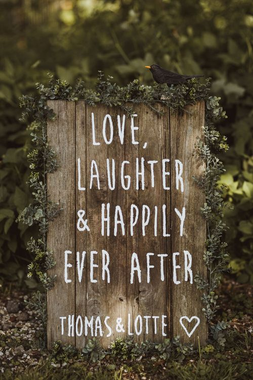 Wooden Welcome To Our Wedding Sign // Image By Neil Jackson Photographic