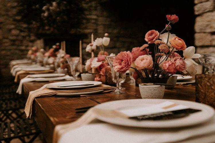 Coral Ranunculus Wedding Flowers
