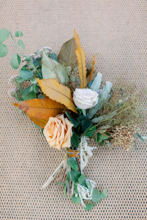 Dried Flower, Grasses and Foliage Buttonhole