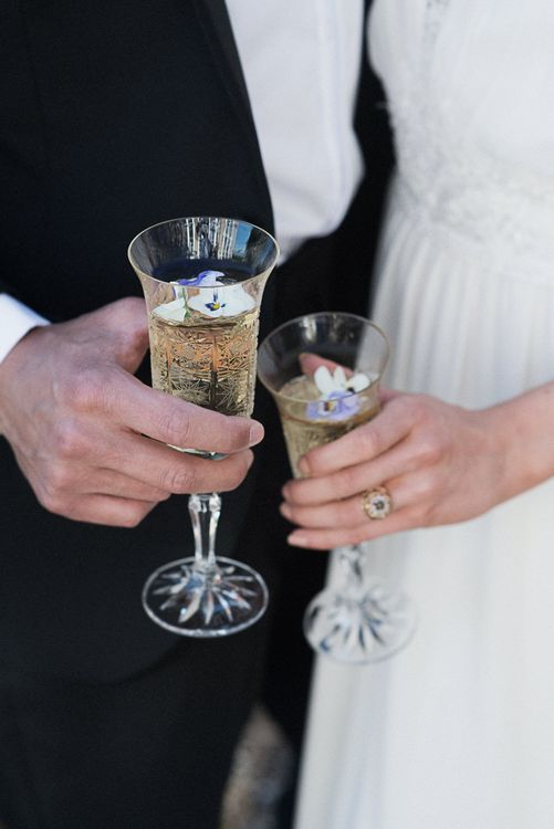 Winter Wedding Inspiration At Sennowe Park Norfolk With Cornflower Blue And Gold Details With Images From Salsabil Morrison Photography