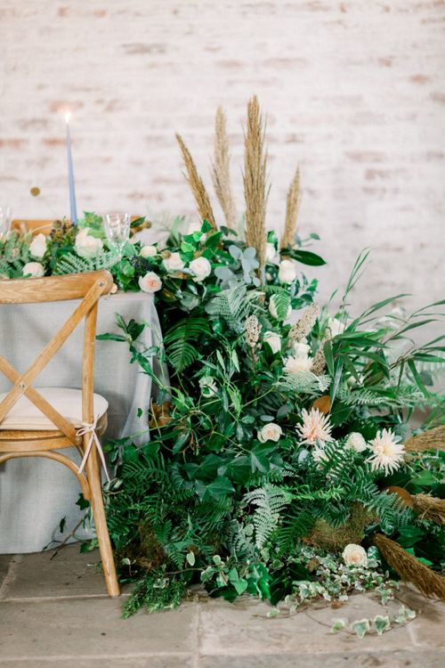 End of Table Wedding Flowers