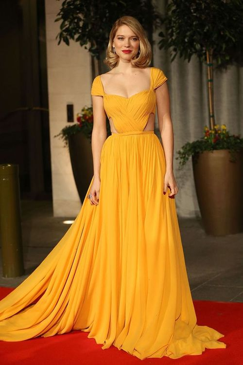 Léa Seydoux In Yellow Dress // Image: Getty Images