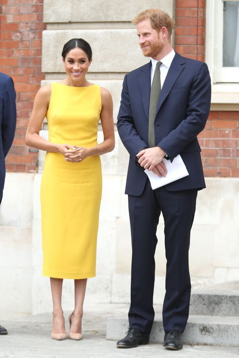 Meghan Markle In Yellow Sleeveless Dress // Image: Getty Images