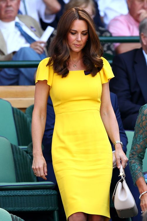 Duchess Of Cambridge In Yellow Dress // Image: Getty Images