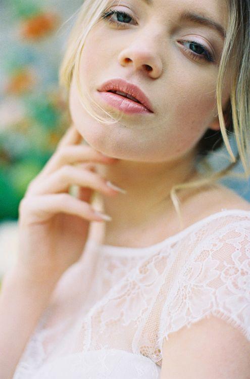 Natural Bridal Makeup with Nude Lipstick