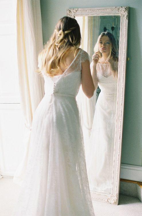 Wedding Morning Bridal Preparations with Bride in Naomi Neoh Wedding Dress