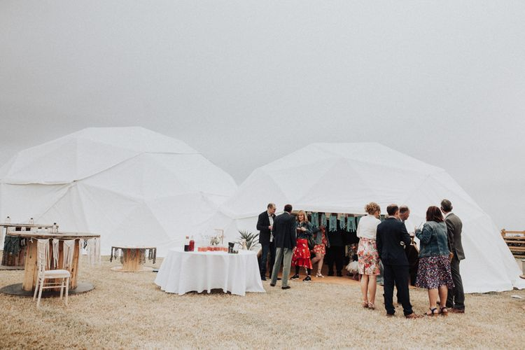 Bamboo Geodome Wedding Reception Venue at the Couples Family Home