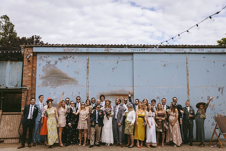 Wedding Guests    Outdoor Ceremony & DIY Rustic Barn Wedding At The Brides Parents Home   Nigel John Photography