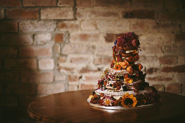 Homemade Wedding Cake   Outdoor Ceremony & DIY Rustic Barn Wedding At The Brides Parents Home   Nigel John Photography