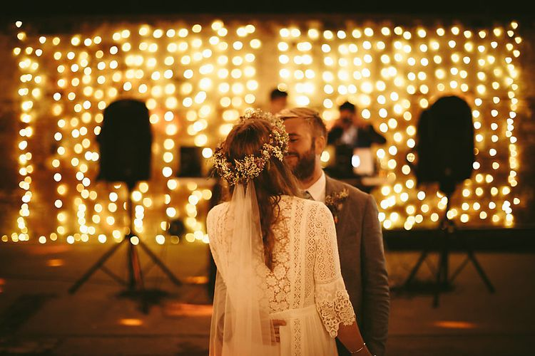 First Dance   Boho Bride in Spell and The Gypsy Bridal Gown  & Flower Crown   Groom in Grey Suit   Outdoor Ceremony & DIY Rustic Barn Wedding At The Brides Parents Home   Nigel John Photography