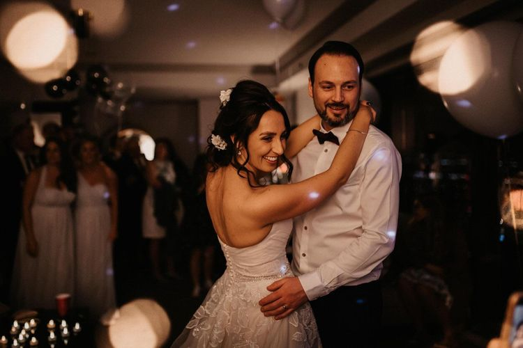 Bride and grooms first dance at Last Vegas Wedding