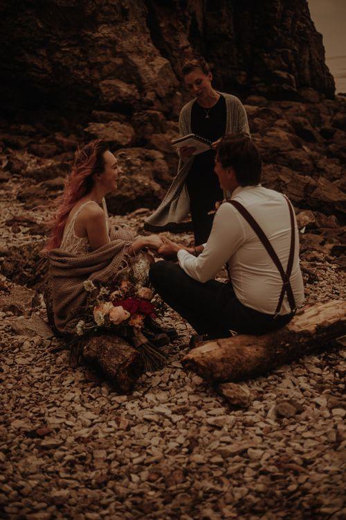 Celebrant led beach elopement wedding