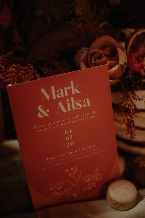 Wedding sign by Wonderland Invites
