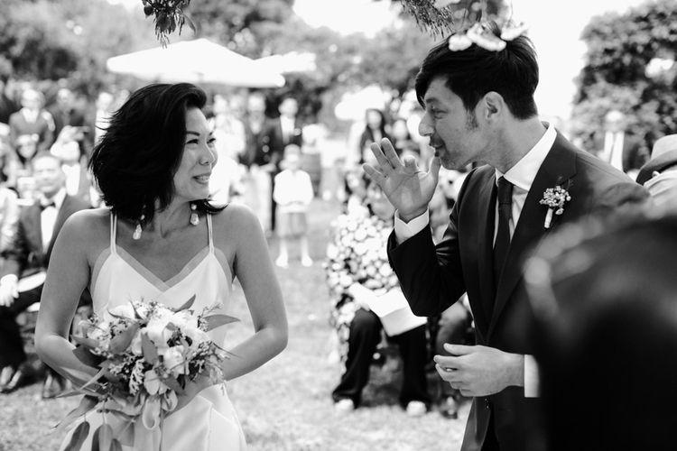 新郎和婚礼期间在婚礼上