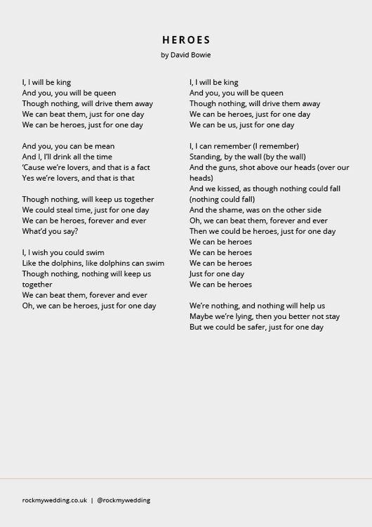 Song Wedding Readings