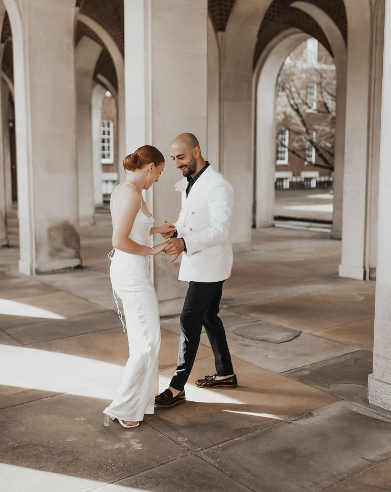 Bride and groom dance outside Image by Westlake Photography